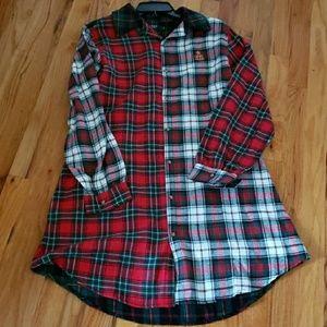 646f307238 Ralph Lauren Plaid Flannel Nightshirt